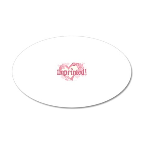 Imprinted 20x12 Oval Wall Decal