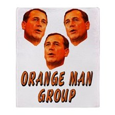 Orange man group3 Throw Blanket