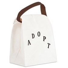 2-adopt claw_dark Canvas Lunch Bag