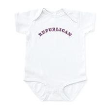 R,W & B Republican Infant Bodysuit