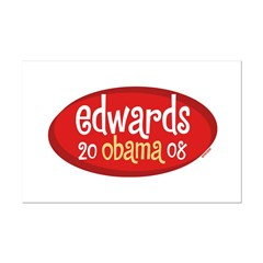 Retro Edwards Obama Mini Poster Print
