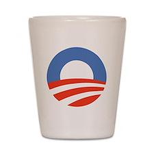 obama symbol Shot Glass