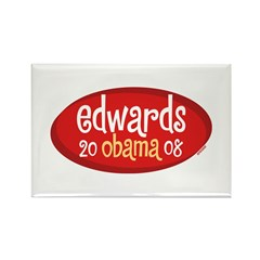 Retro Edwards Obama Rectangle Magnet