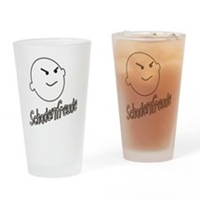 schadenfreude no bckgrnd 4 white Drinking Glass