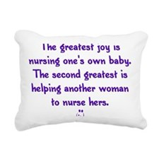 Greatest_Joy_Round Rectangular Canvas Pillow
