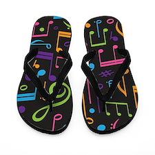 Cute Music Choir Band Student Flip Flops