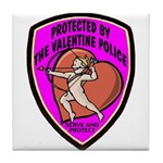 The Valentine Police Tile Coaster