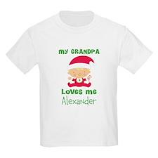 Personalized Grandpa Loves me T-Shirt