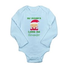 Personalized Grandpa Loves me Long Sleeve Infant B