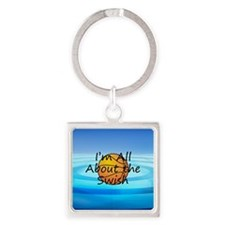 TOP Basketball Swish Square Keychain