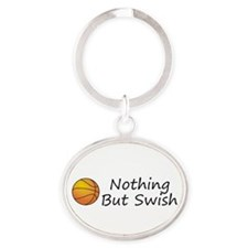 TOP Basketball Swish Oval Keychain