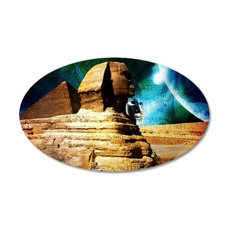 2-Sphinx78 35x21 Oval Wall Decal