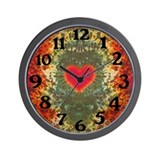 Groovy Tie Dye Art Wall Clock