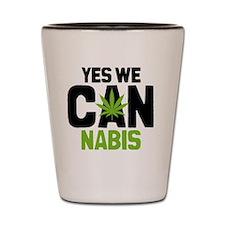 Cannabis Yes BBtn Shot Glass