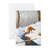 Christmas woods Greeting Cards (10 Pack)