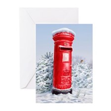 Red post box Greeting Cards (Pk of 10)