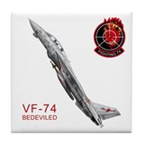 VF-74 Be-Devilers Tile Coaster