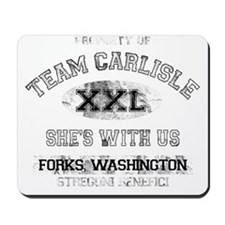 team carlisle dark Mousepad