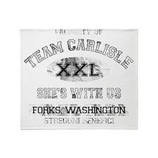 team carlisle dark Throw Blanket