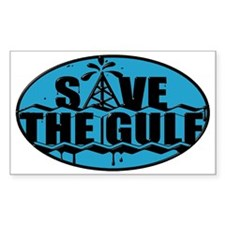 SAVE THE GULF blublack oval Decal