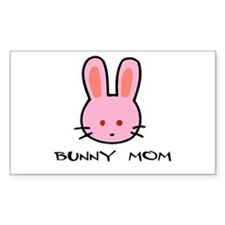 Bunny Mom Rectangle Decal