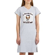 A Man who loves a Corgi - Dott Women's Nightshirt