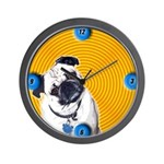 Groovy 60's Pug Clock