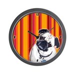 Yipes Stripes PUG Clock