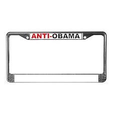 aaaaaanti obama License Plate Frame