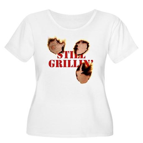 StillGrillin Women's Plus Size Scoop Neck T-Shirt