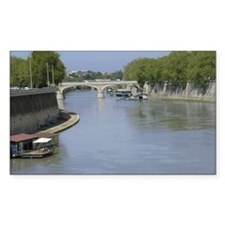 Tiber River In Rome Italy 14x1 Decal