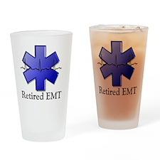 Retired EMT Drinking Glass