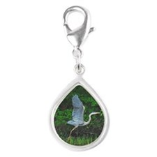 ornament Silver Teardrop Charm