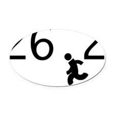 26.2 black font running man Oval Car Magnet