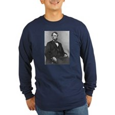 President Lincoln 1864 Long Sleeve Navy T-Shirt