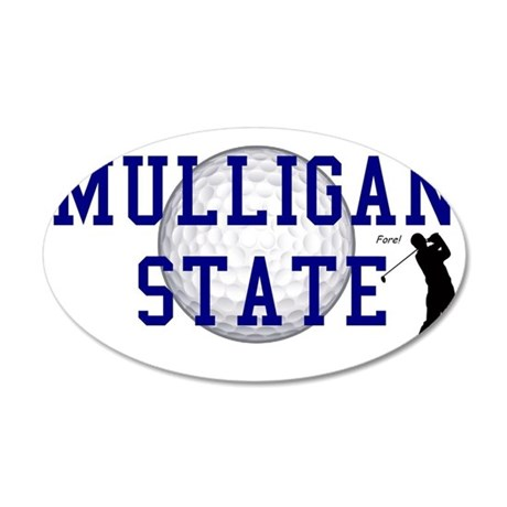 MULLIGAN STATE a 35x21 Oval Wall Decal
