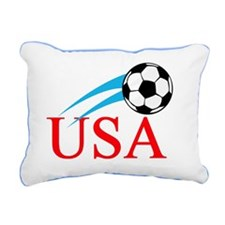 Soccer 6 Rectangular Canvas Pillow