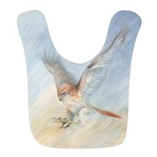 striking red-tail hawk Bib