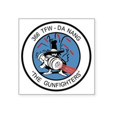 "366_tfw_gun_fighter Square Sticker 3"" x 3"""