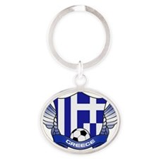 greece-png Oval Keychain