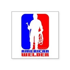 "Welder Square Sticker 3"" x 3"""