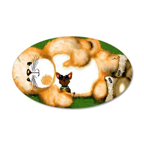 psp  tailhugger ugg chawawaw 35x21 Oval Wall Decal