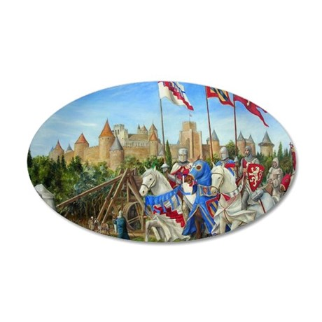 Dscn0918 siege carcassonne 35x21 Oval Wall Decal