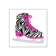 Zebra Pink and Black Ice Skate Sticker