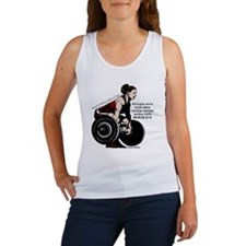 Woman Powerlifter with changes in Women's Tank Top