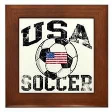 usa soccerballWHT Framed Tile