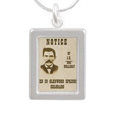 doc Silver Portrait Necklace