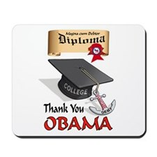 OBAMA GRADUATE Mousepad