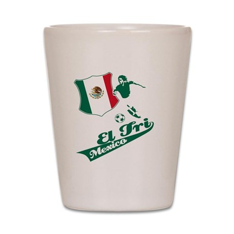 mexico football Shot Glass