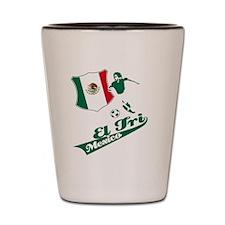 mexico football Shot Glass